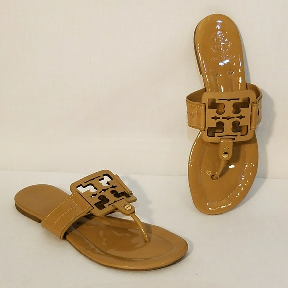 398bdb84bed0f Tory Burch Square Miller Patent Leather Sandals. M 5b22e4aa819e9073b93ce9d9